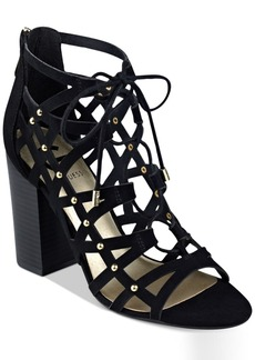 G by Guess Juto Lace-Up Block-Heel Sandals Women's Shoes