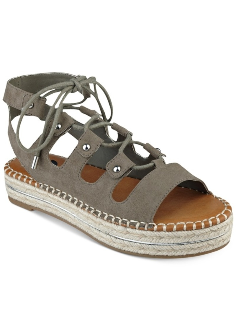 f6f69fc4cfba SALE! GUESS G by Guess Keeny Lace-Up Platform Espadrille Sandals ...