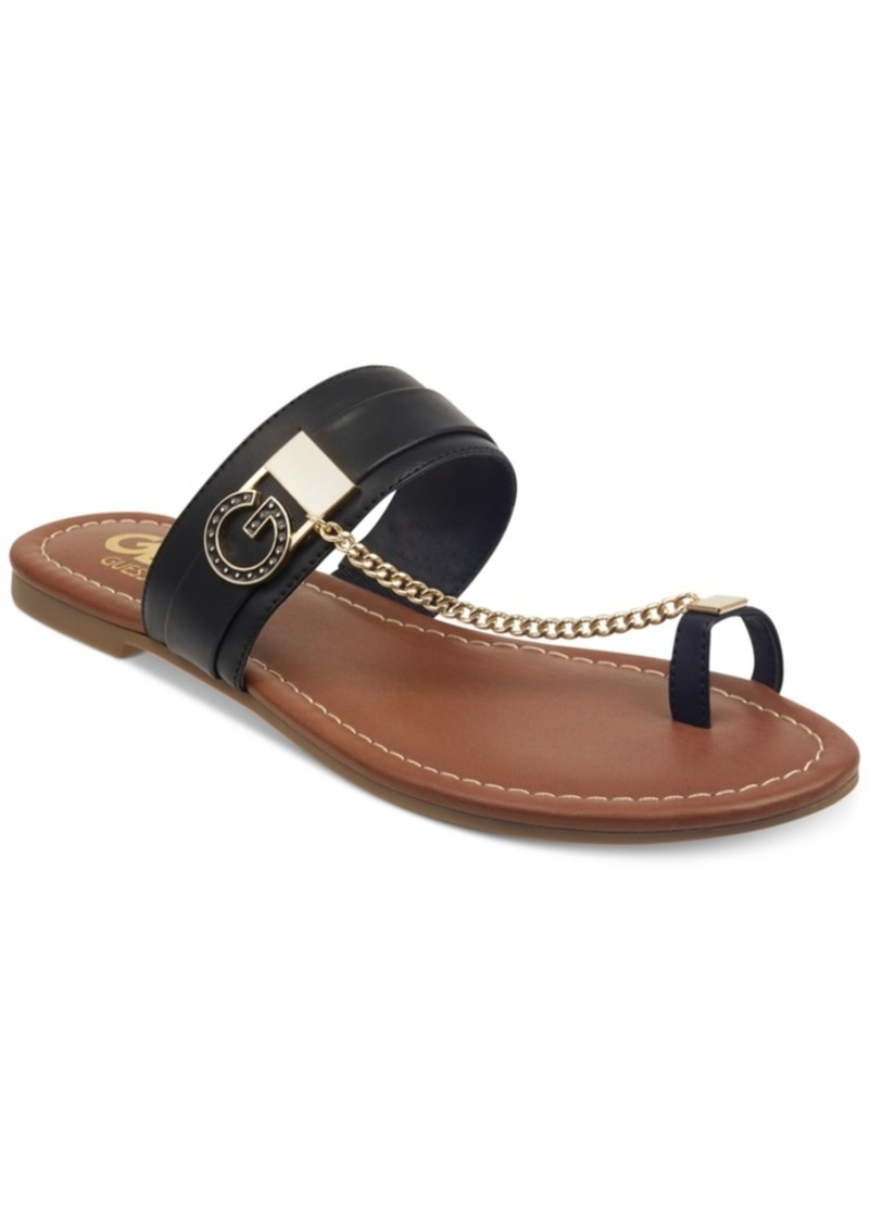 G by Guess Loona Toe Thong Flat Sandals Women's Shoes