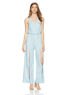 GUESS GUE Women's Bleached exy Jumpsuit uper wash