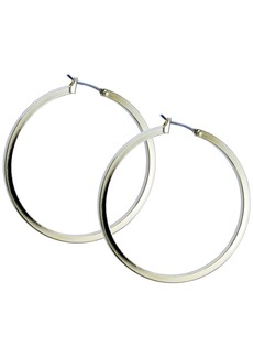 "Guess 1 1/2"" Gold-Tone Square Edge Hoop Earrings"