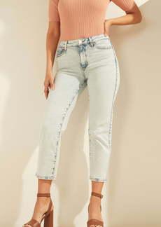 GUESS 1981 Crop Straight Leg Jeans (Growler)