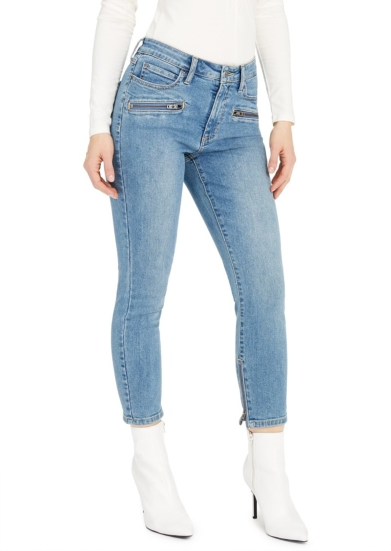 Guess 1981 Cropped Moto Skinny Jeans