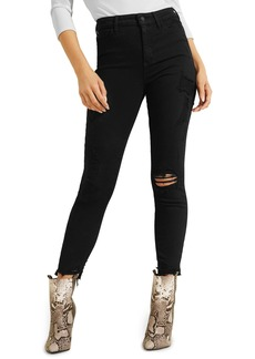 GUESS 1981 Destroyed Hem Ankle Skinny Jeans