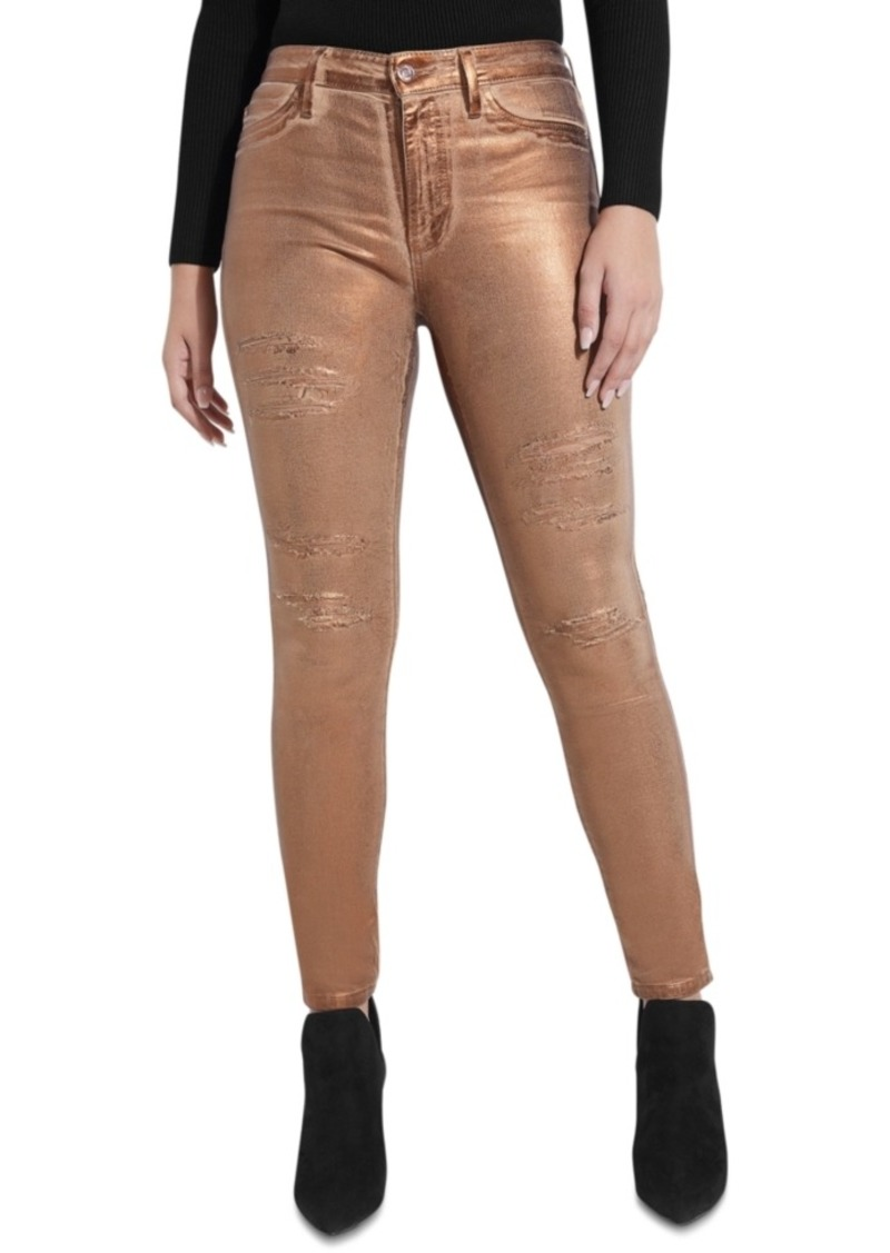 Guess 1981 Metallic Skinny Jeans