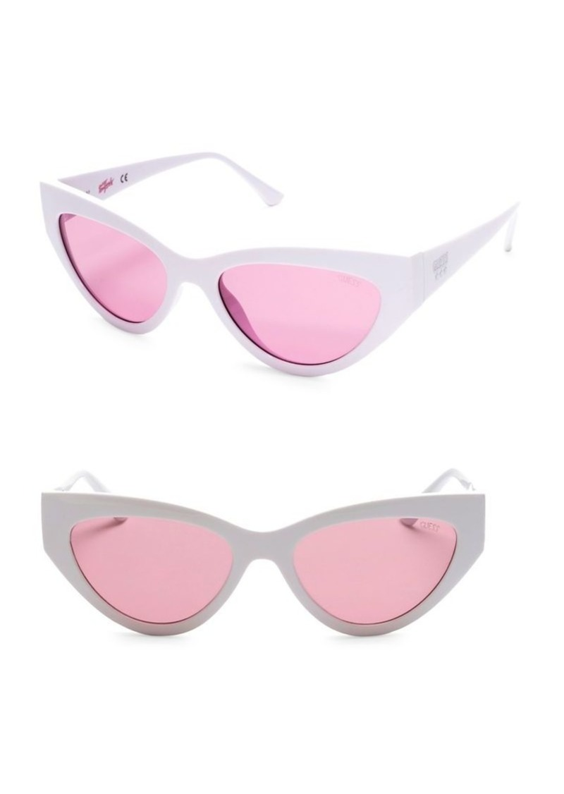 11be09553d6e GUESS Guess 55MM Pink Lenses Wraparound Sunglasses   Sunglasses