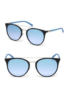 Guess 56MM Round Brow-Bar Sunglasses