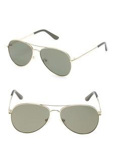 Guess 58MM Aviator Sunglasses