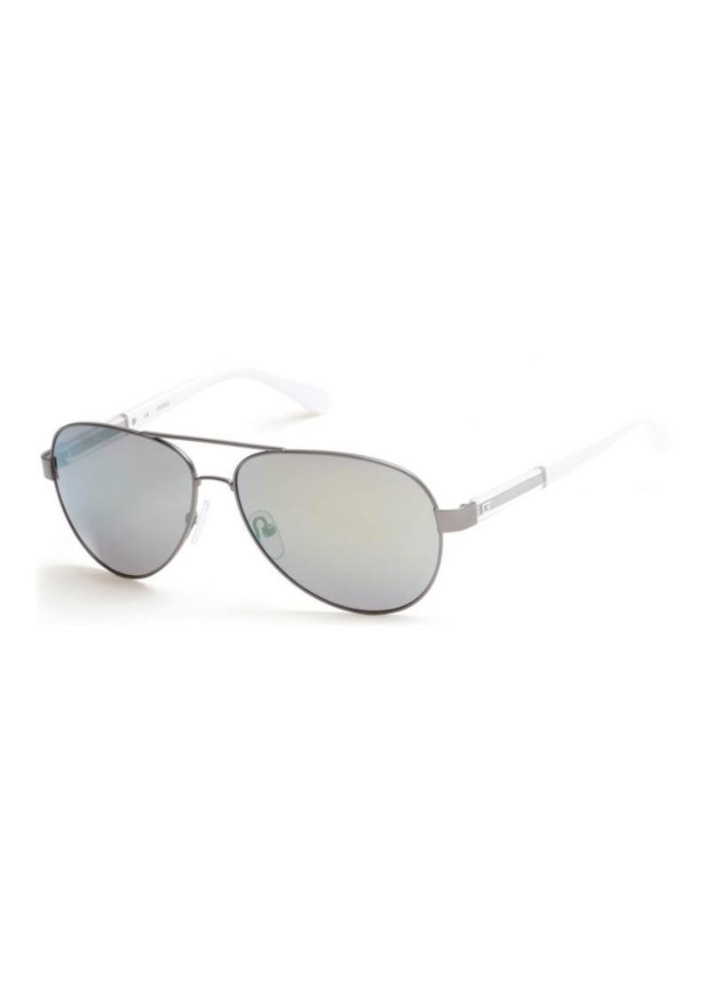 2734a54bc GUESS Guess 63mm Smoke and Mirror Aviator Sunglasses | Sunglasses