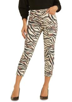 Guess 90s Zebra-Print Ankle Skinny Jeans