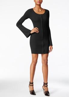 Guess Abigail Zip-Up Sweater Dress