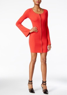 Guess Abigail Zip-Up Sweater Dress
