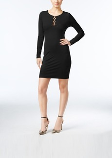 Guess Addison Lace-Up Bodycon Dress, A Macy's Exclusive