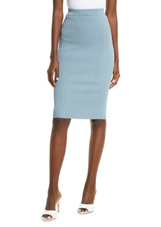 GUESS Agnes Textured Rib Knit Pencil Skirt