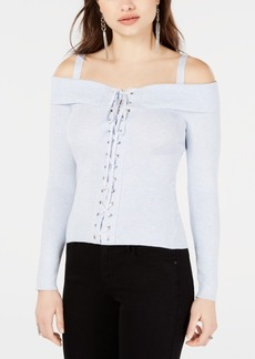 Guess Ali Lace-Up Sweater