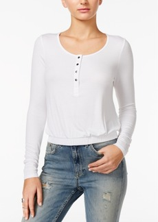 Guess Alinda Cropped Banded Henley