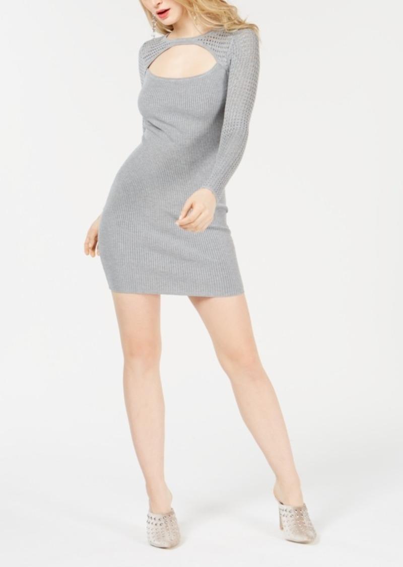Guess Allison Amory Cutout Sweater Dress