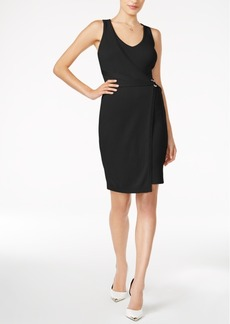 Guess Allison Faux-Wrap Sweater Dress