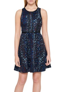 GUESS Allover Print Halter Dress