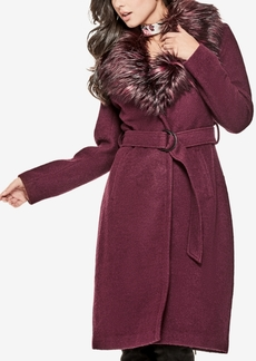Guess Anna Faux-Fur-Collar Coat