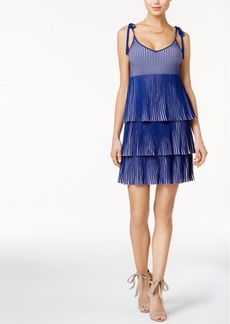 Guess Annette Pleated Tie-Strap Dress
