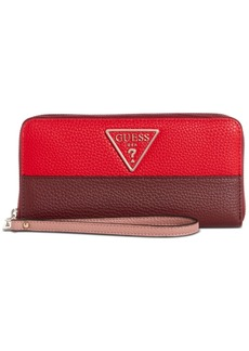Guess Aretha Signature Large Zip Around Wallet