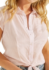 Guess Aricela Striped Button-Front Top