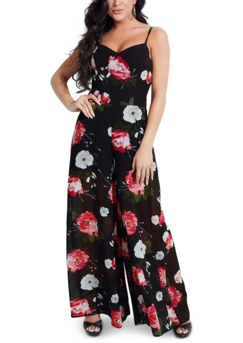 Guess Ariella Floral-Print Wide-Leg Jumpsuit