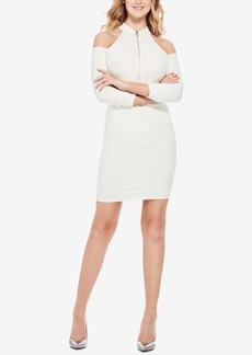 Guess Asa Cold-Shoulder Zip-Front Dress