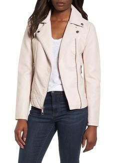GUESS Asymmetrical Faux Leather Jacket