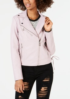 Guess Asymmetrical Faux-Leather Moto Jacket