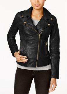 Guess Asymmetrical Leather Moto Jacket