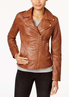 Guess Asymmetrical Leather Moto Jacket