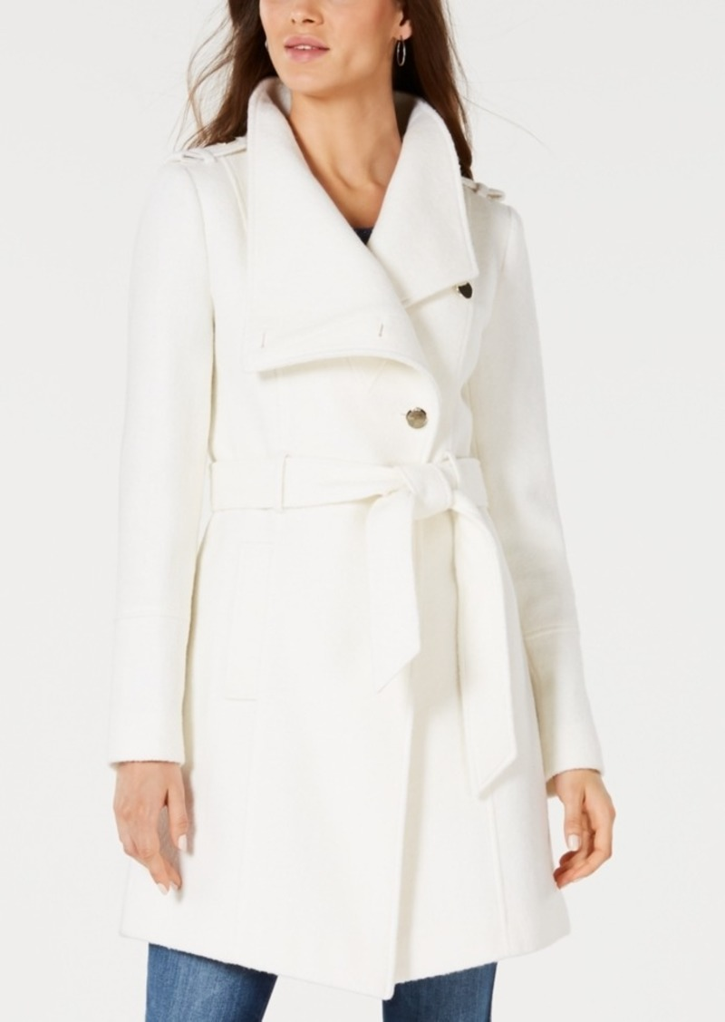 Guess Asymmetrical Wrap Coat, Created for Macy's