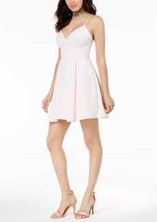 Guess Aura Embroidered Fit & Flare Dress