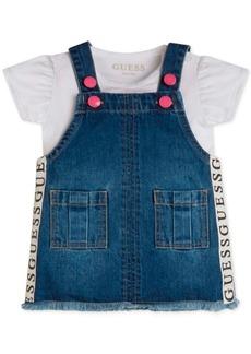 Guess Baby Girls 2-Pc. Bodysuit & Denim Skirtall Set