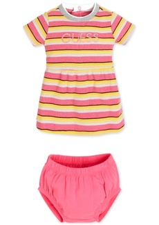 Guess Baby Girls 2-Pc. Striped Dress & Bloomer Set