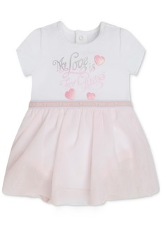 Guess Baby Girls Organic Jersey Bodysuit & Sparkle Tulle Skirt Dress