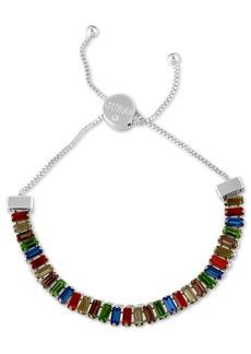 Guess Baguette-Crystal Slider Bracelet
