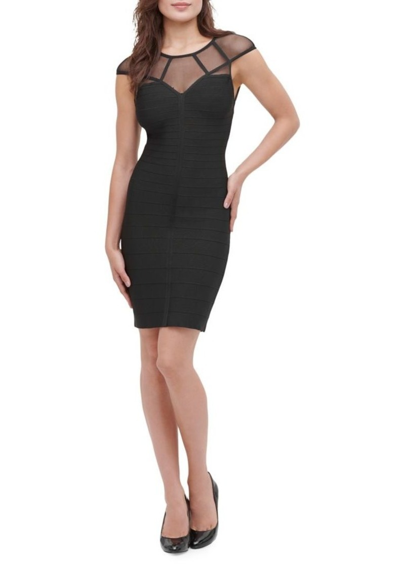 Guess Bandage Mesh Bodycon Mini Dress