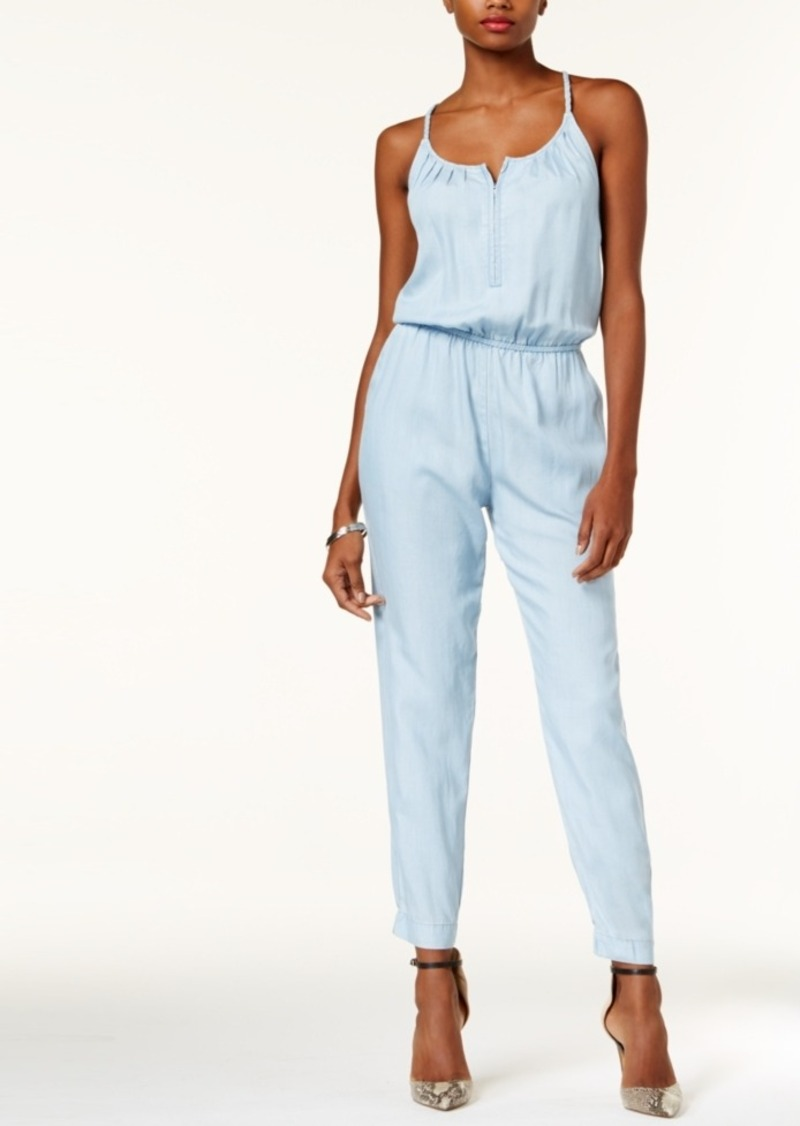 c0568becfb2f GUESS Guess Beaded Zip-Front Jumpsuit