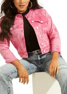Guess Bella Printed Denim Jacket