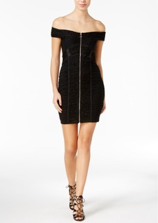 Guess Belladonna Off-The-Shoulder Bodycon Dress