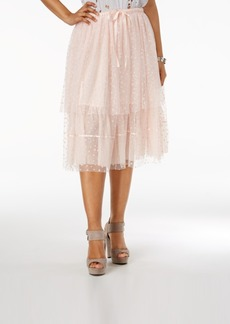 Guess Belladonna Tiered Lace Skirt