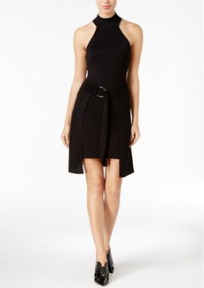 Guess Belted Mock-Neck Dress