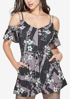 Guess Betty Printed Cold-Shoulder Romper