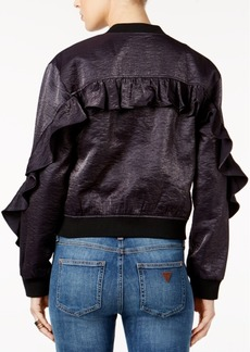 Guess Biella Ruffled Bomber Jacket