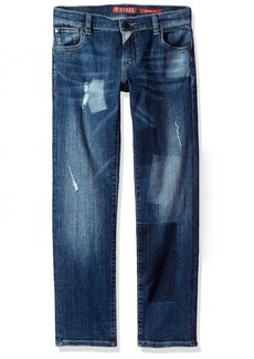 GUESS Big Boys' 5 Pkt Skinny Fit Jean patching