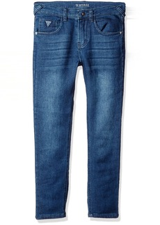 GUESS Big Boys' 5 Pocket Knit Denim Stretch Jeans