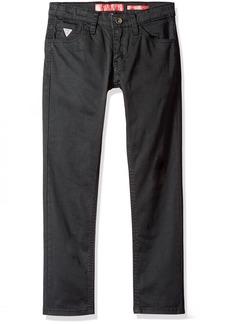 GUESS Boys' Big 5 Pocket Regular Fit Stretch Twill Jeans
